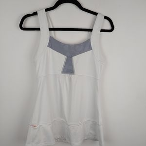 Lucy Fitness  Tank in White / Gray, S